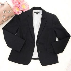 Ann Taylor Petite 2 Button Black Blazer